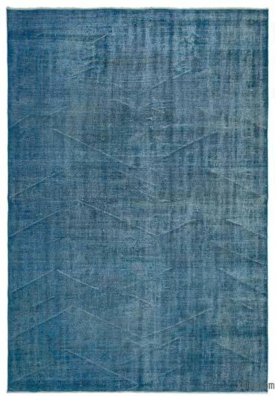 Boyalı El Dokuma Vintage Halı - 190 cm x 280 cm