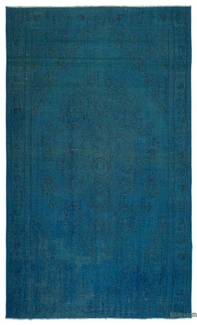 Boyalı El Dokuma Vintage Halı - 169 cm x 284 cm