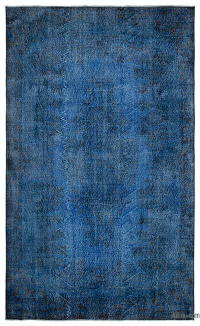 "Over-dyed Turkish Vintage Rug - 5' 10"" x 9' 9"" (70 in. x 117 in.)"