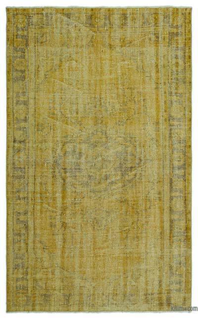 Alfombra Turca Vintage Sobre-teñida - 148 cm x 244 cm