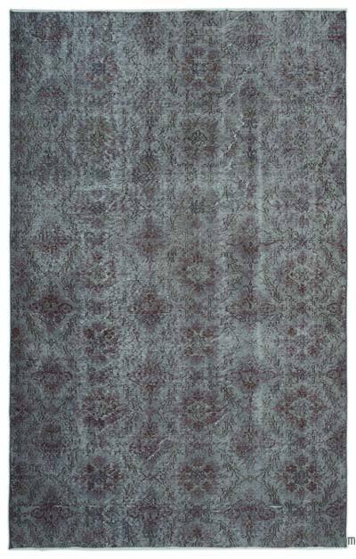 Boyalı El Dokuma Vintage Halı - 175 cm x 276 cm