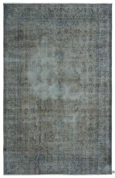 Boyalı El Dokuma Vintage Halı - 163 cm x 255 cm