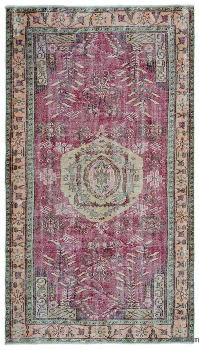 """Turkish Vintage Area Rug - 4'10"""" x 8'7"""" (58 in. x 103 in.)"""