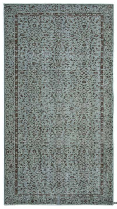 "Over-dyed Turkish Vintage Rug - 4'7"" x 8'6"" (55 in. x 102 in.)"