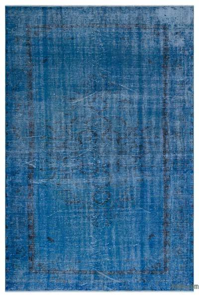 "Over-dyed Turkish Vintage Rug - 6'4"" x 9'7"" (76 in. x 115 in.)"