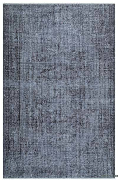 """Over-dyed Turkish Vintage Rug - 5' 7"""" x 8' 10"""" (67 in. x 106 in.)"""