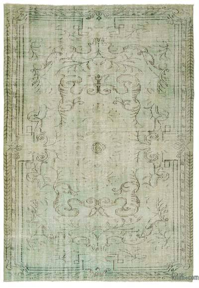 """Over-dyed Turkish Vintage Rug - 5'10"""" x 8'10"""" (70 in. x 106 in.)"""