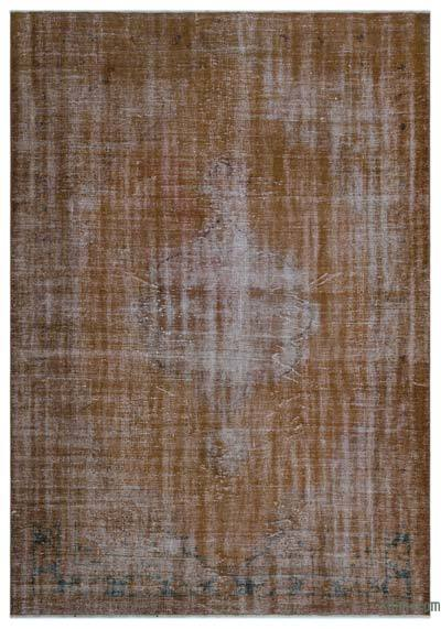 """Over-dyed Turkish Vintage Rug - 6'4"""" x 8'11"""" (76 in. x 107 in.)"""