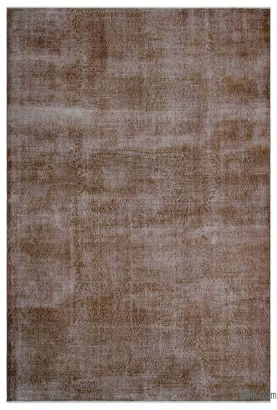Boyalı El Dokuma Vintage Halı - 212 cm x 314 cm