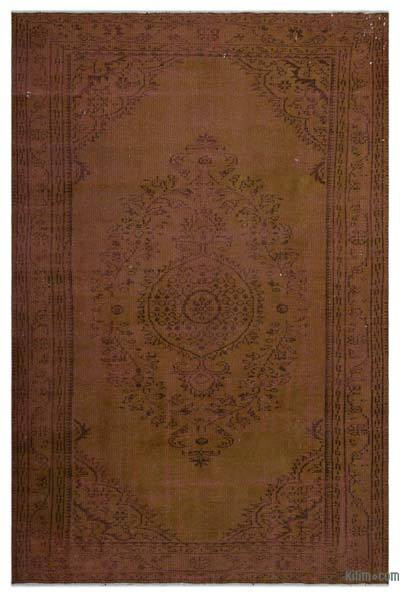 "Over-dyed Turkish Vintage Rug - 5' 8"" x 8' 8"" (68 in. x 104 in.)"