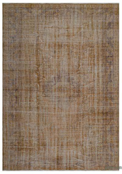 """Over-dyed Turkish Vintage Rug - 6'3"""" x 9' (75 in. x 108 in.)"""