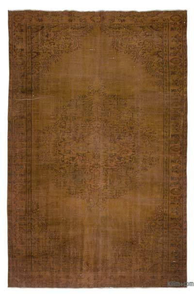 "Over-dyed Turkish Vintage Rug - 6'2"" x 9'7"" (74 in. x 115 in.)"