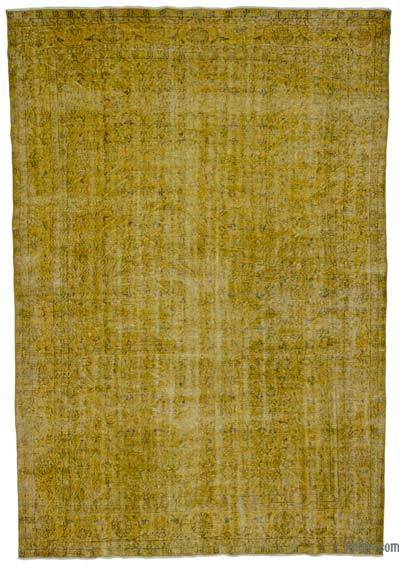 Boyalı El Dokuma Vintage Halı - 218 cm x 322 cm