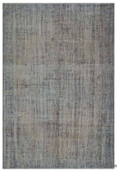 """Over-dyed Turkish Vintage Rug - 6'2"""" x 8'11"""" (74 in. x 107 in.)"""