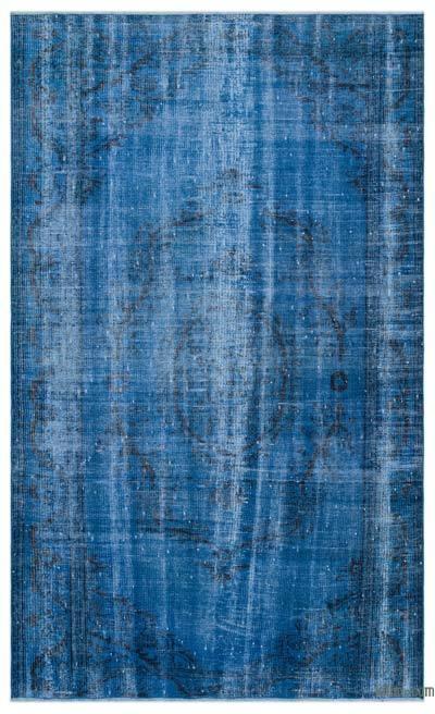 Boyalı El Dokuma Vintage Halı - 165 cm x 268 cm