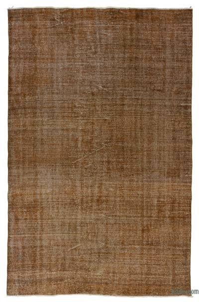 "Brown Over-dyed Turkish Vintage Rug - 5' 8"" x 8' 7"" (68 in. x 103 in.)"