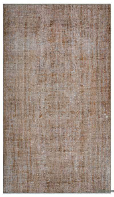 """Over-dyed Turkish Vintage Rug - 5' 11"""" x 10' 4"""" (71 in. x 124 in.)"""