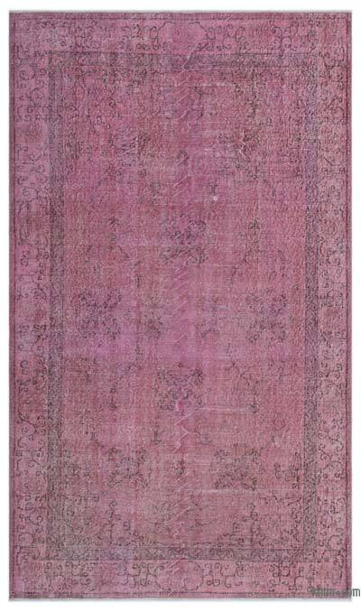 "Over-dyed Turkish Vintage Rug - 5'1"" x 8'9"" (61 in. x 105 in.)"
