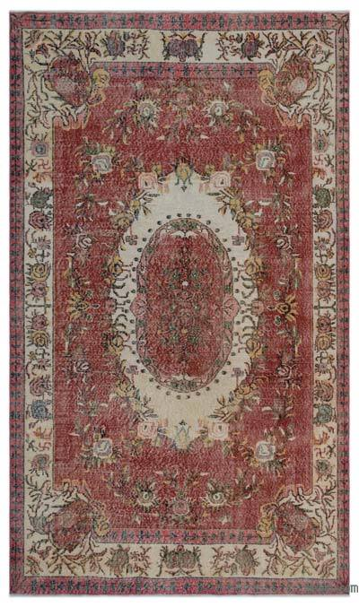 "Turkish Vintage Area Rug - 5'7"" x 9'7"" (67 in. x 115 in.)"