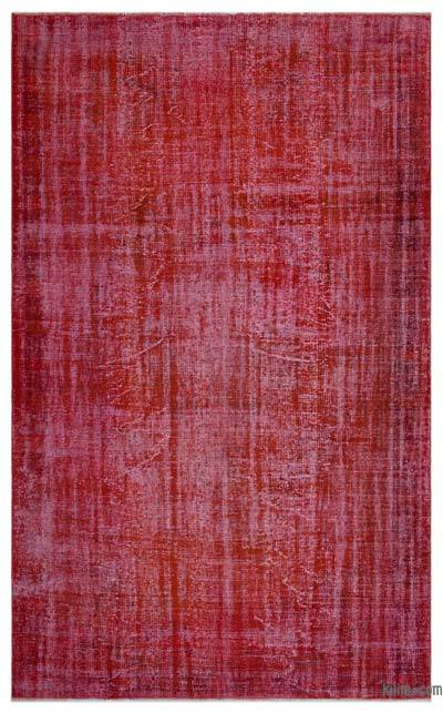 "Over-dyed Turkish Vintage Rug - 6'4"" x 10'1"" (76 in. x 121 in.)"