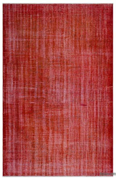 """Over-dyed Turkish Vintage Rug - 5'10"""" x 9' (70 in. x 108 in.)"""