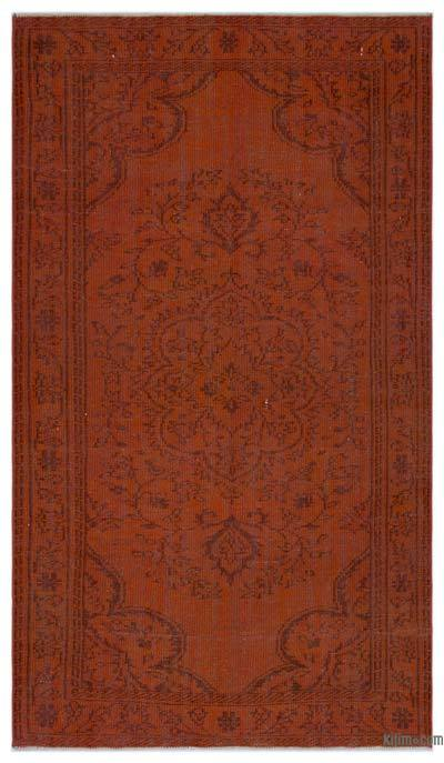 """Over-dyed Turkish Vintage Rug - 4'10"""" x 8'4"""" (58 in. x 100 in.)"""