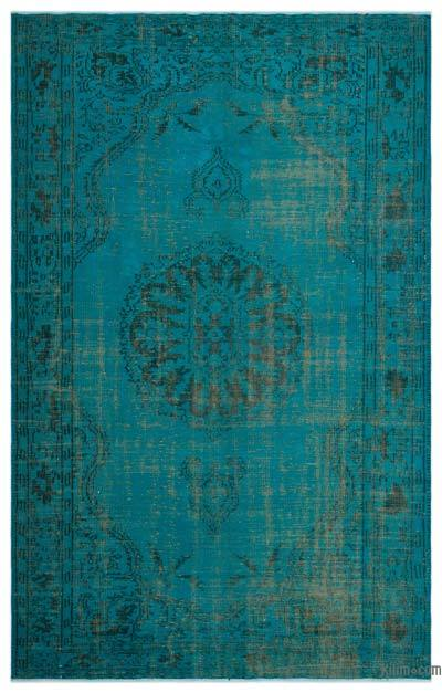 Boyalı El Dokuma Vintage Halı - 172 cm x 278 cm
