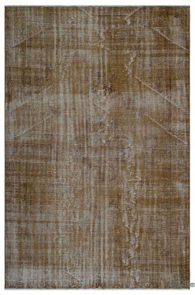"""Over-dyed Turkish Vintage Rug - 6' x 8'11"""" (72 in. x 107 in.)"""
