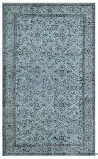 """Over-dyed Turkish Vintage Rug - 5'10"""" x 9'7"""" (70 in. x 115 in.)"""