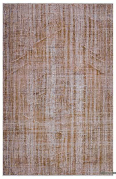 """Over-dyed Turkish Vintage Rug - 5'6"""" x 8'4"""" (66 in. x 100 in.)"""
