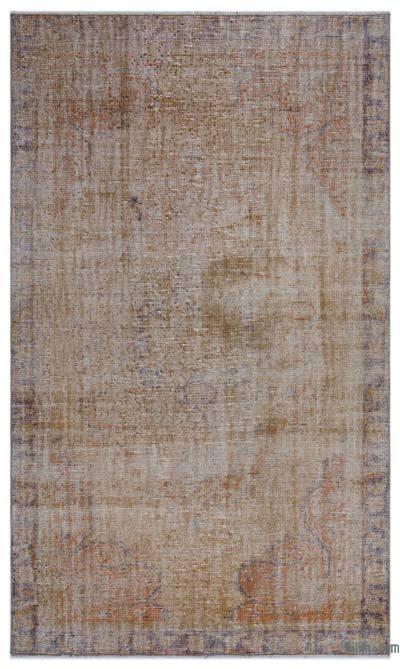 Alfombra Turca Vintage Sobre-teñida - 150 cm x 248 cm