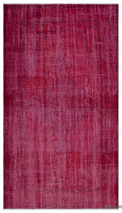 Alfombra Turca Vintage Sobre-teñida - 146 cm x 257 cm
