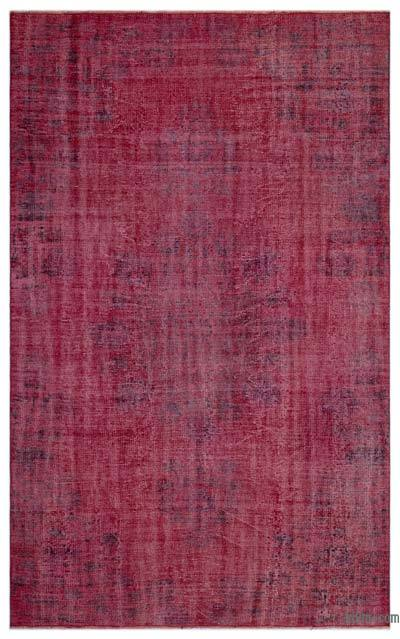 """Over-dyed Turkish Vintage Rug - 5'8"""" x 9' (68 in. x 108 in.)"""