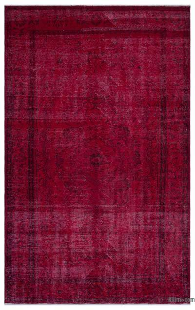 """Over-dyed Turkish Vintage Rug - 6' x 9'3"""" (72 in. x 111 in.)"""