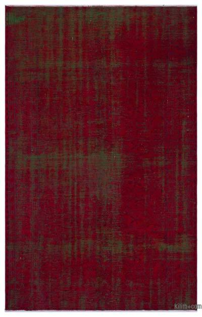 """Over-dyed Turkish Vintage Rug - 4'11"""" x 7'8"""" (59 in. x 92 in.)"""