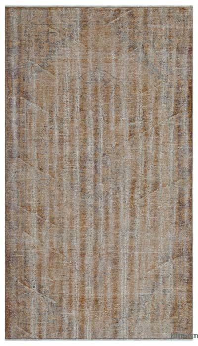 """Over-dyed Turkish Vintage Rug - 4' 8"""" x 8' 3"""" (56 in. x 99 in.)"""