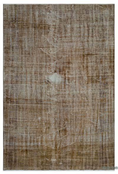 Alfombra Turca Vintage Sobre-teñida - 186 cm x 260 cm