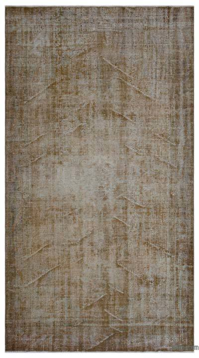 """Over-dyed Turkish Vintage Rug - 5'6"""" x 10' (66 in. x 120 in.)"""