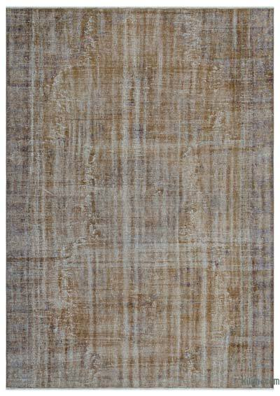 "Over-dyed Turkish Vintage Rug - 6'2"" x 8'6"" (74 in. x 102 in.)"
