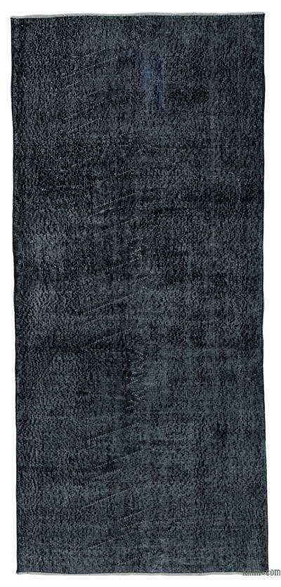 Boyalı El Dokuma Vintage Halı - 103 cm x 226 cm