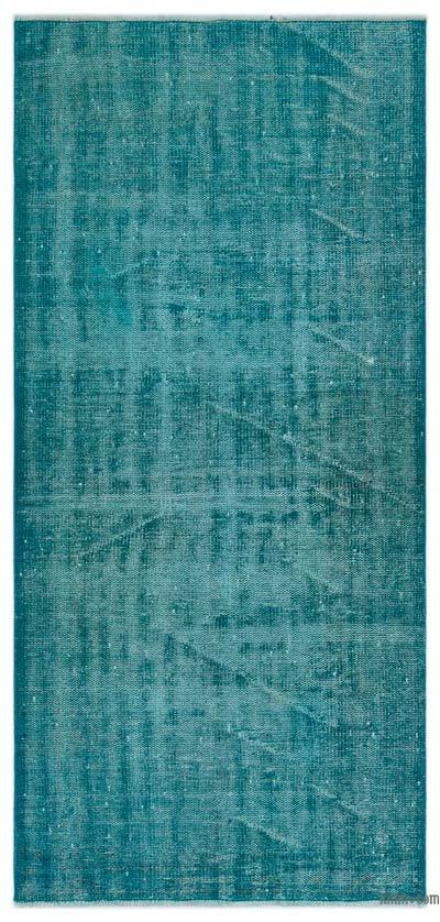 """Over-dyed Turkish Vintage Rug - 3' x 6'5"""" (36 in. x 77 in.)"""