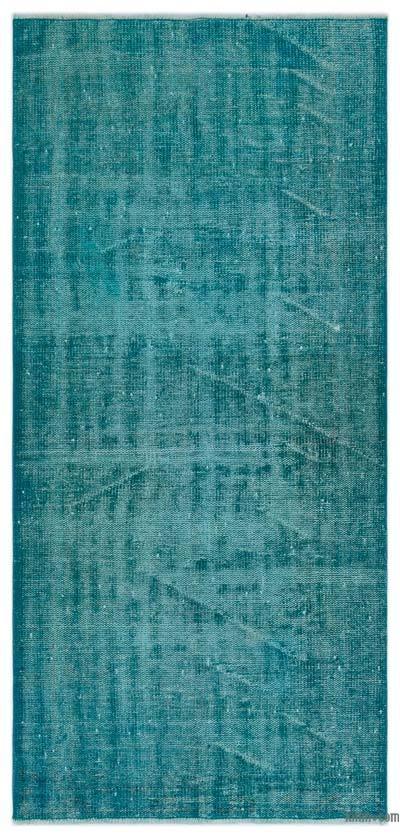 Boyalı El Dokuma Vintage Halı - 91 cm x 195 cm