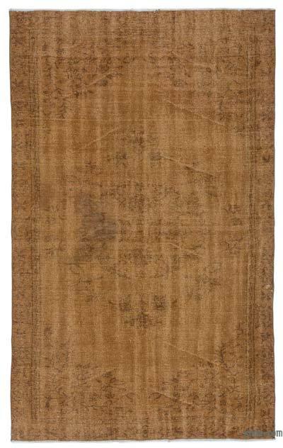 Alfombra Turca Vintage Sobre-teñida - 168 cm x 276 cm