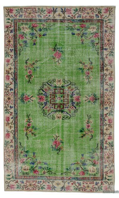 "Turkish Vintage Area Rug - 5' 5"" x 8' 11"" (65 in. x 107 in.)"