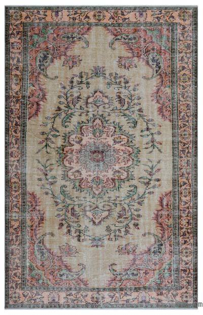 """Turkish Vintage Area Rug - 5' 9"""" x 8' 9"""" (69 in. x 105 in.)"""
