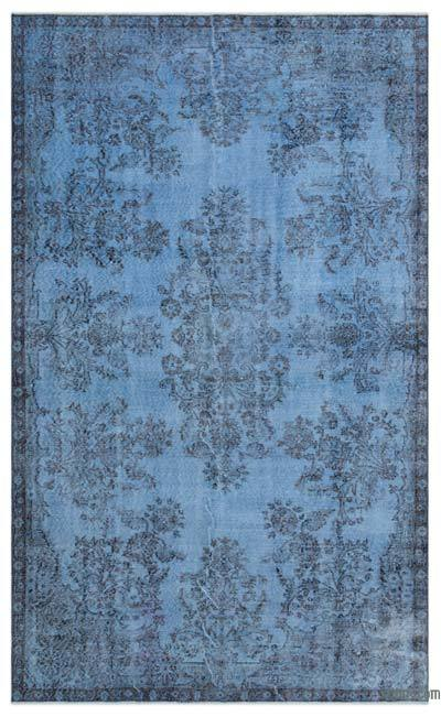 """Over-dyed Turkish Vintage Rug - 5'4"""" x 8'11"""" (64 in. x 107 in.)"""