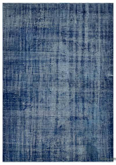 Boyalı El Dokuma Vintage Halı - 188 cm x 270 cm