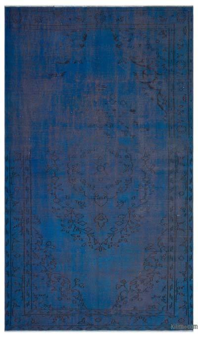 Alfombra Turca Vintage Sobre-teñida - 166 cm x 281 cm