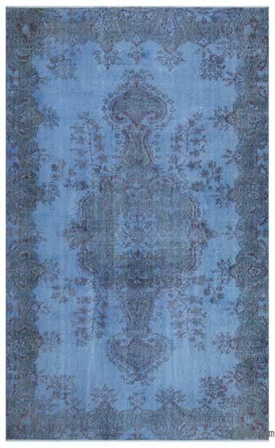Boyalı El Dokuma Vintage Halı - 168 cm x 275 cm