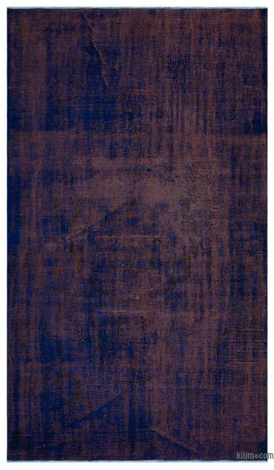 """Over-dyed Turkish Vintage Rug - 5'5"""" x 9'2"""" (65 in. x 110 in.)"""